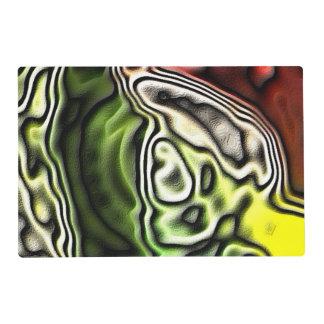 Modelo abstracto ligero extraño tapete individual