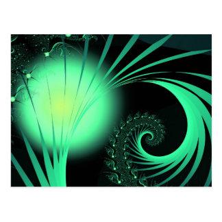 """Modelo abstracto lindo fresco """"orbe del verde """" tarjetas postales"""