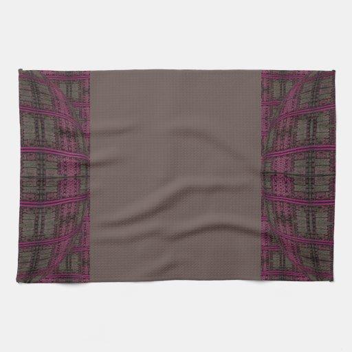 modelo abstracto marrón rosado toallas de cocina