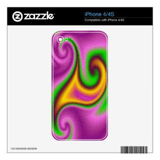 Modelo abstracto moderno calcomanía para iPhone 4