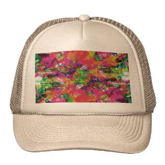 Modelo abstracto moderno de las pinceladas de la gorra