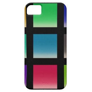 Modelo abstracto moderno de los cuadrados iPhone 5 coberturas