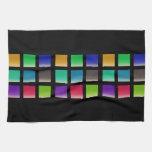 Modelo abstracto moderno de los cuadrados toallas
