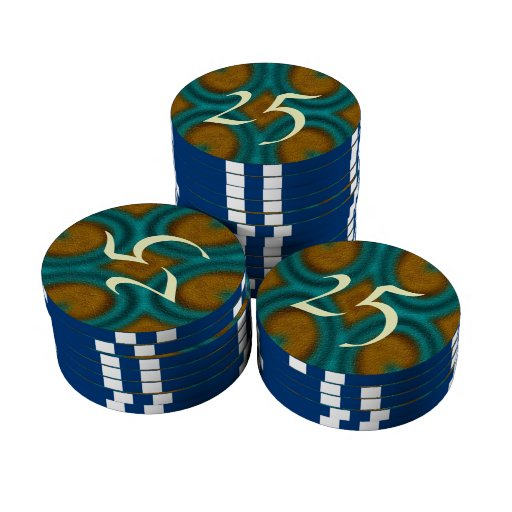 Modelo abstracto moderno juego de fichas de póquer