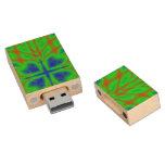 Modelo abstracto moderno memoria USB 2.0 de madera