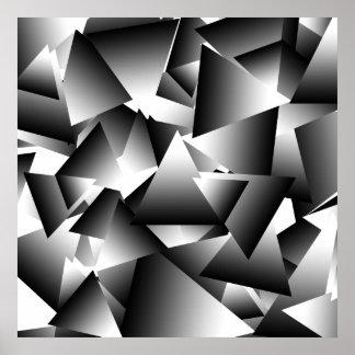 Modelo abstracto monocromático de la moda de los t póster