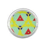Modelo abstracto multicolor anillos con foto