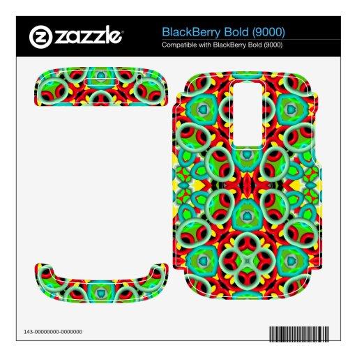 Modelo abstracto multicolor BlackBerry bold skin