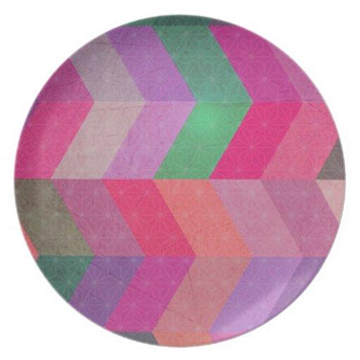 Modelo abstracto multicolor del galón platos de comidas