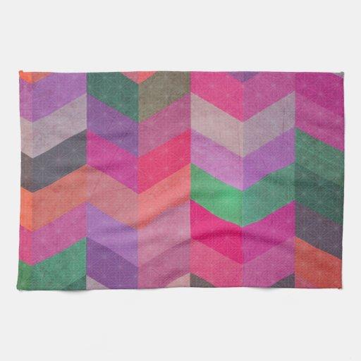 Modelo abstracto multicolor del galón toalla