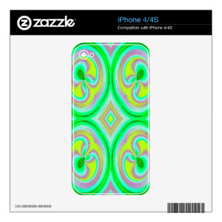 Modelo abstracto multicolor iPhone 4 skin