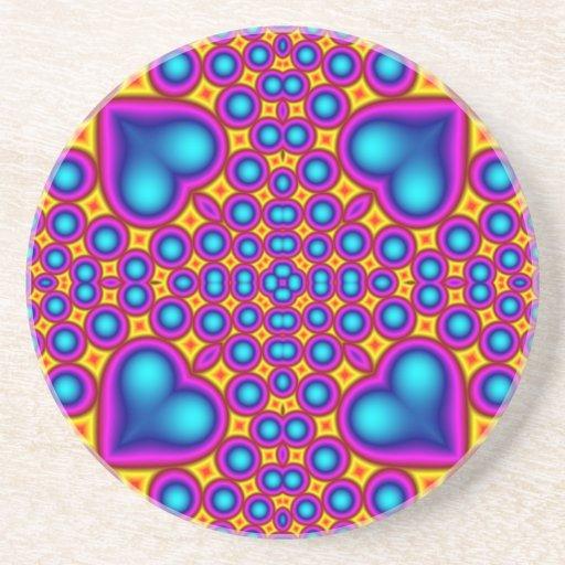 Modelo abstracto multicolor posavasos de arenisca