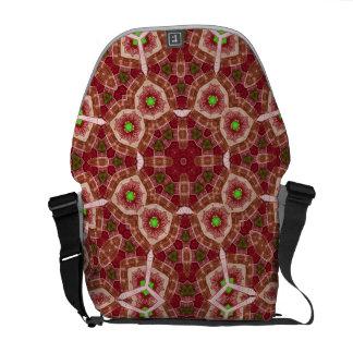 Modelo abstracto multicolor rojo bolsas de mensajería