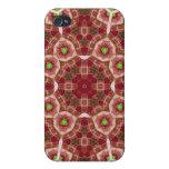 Modelo abstracto multicolor rojo iPhone 4 protectores