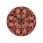 Modelo abstracto multicolor rojo reloj