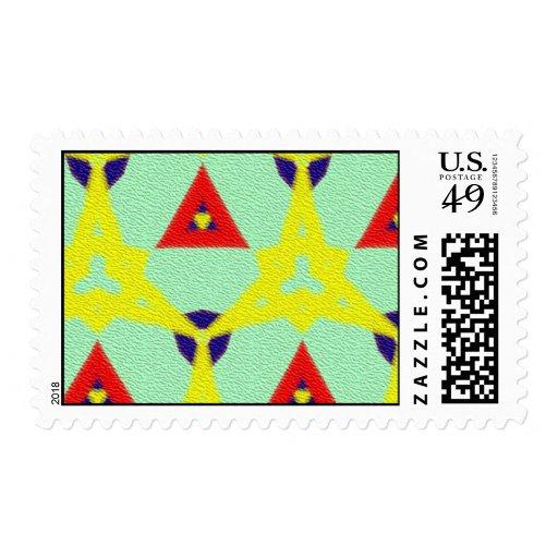 Modelo abstracto multicolor sello