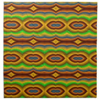 Modelo abstracto multicolor servilletas imprimidas