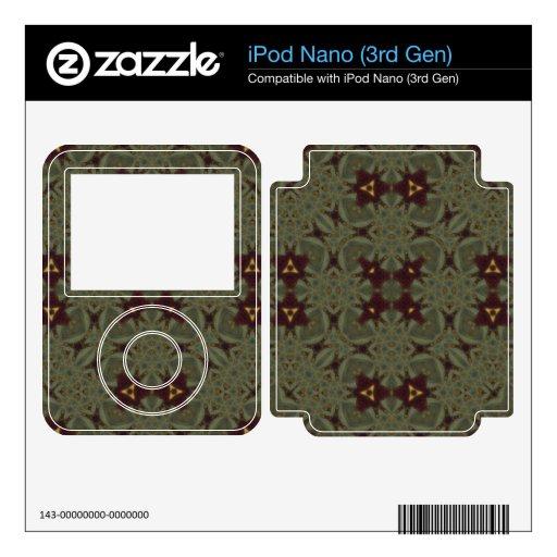 Modelo abstracto multicolor skin para el iPod nano