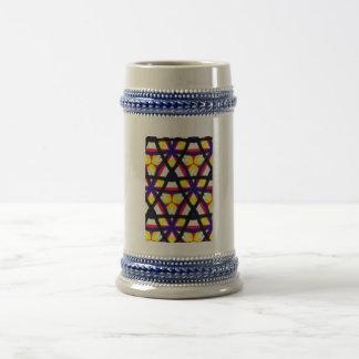 Modelo abstracto multicolor taza de café