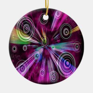 Modelo abstracto musical adorno redondo de cerámica