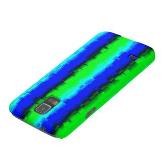 modelo abstracto negro azulverde del arco iris carcasa para galaxy s5