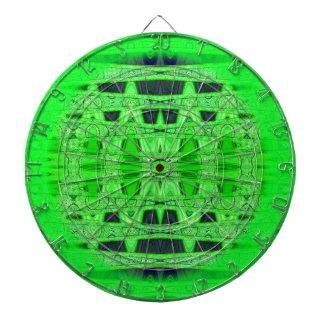 modelo abstracto negro verde claro