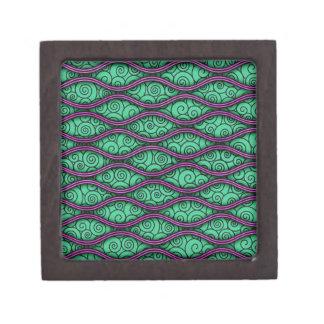 Modelo abstracto ondulado único de moda de Swirly Caja De Joyas De Calidad