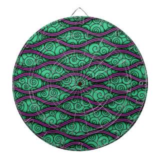 Modelo abstracto ondulado único de moda de Swirly Tabla Dardos