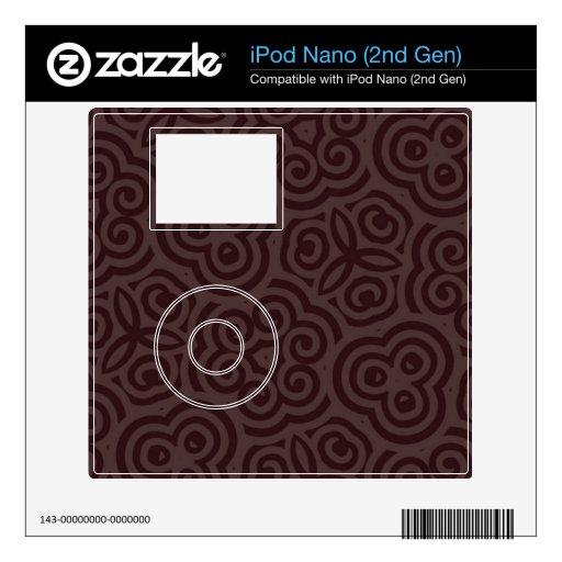 Modelo abstracto oscuro y ligero calcomanías para iPod nano