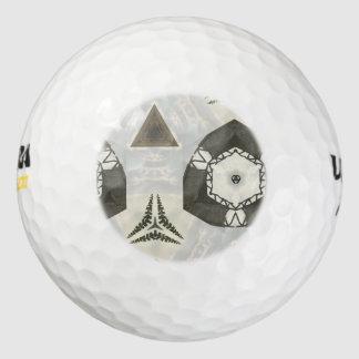 modelo abstracto pack de pelotas de golf