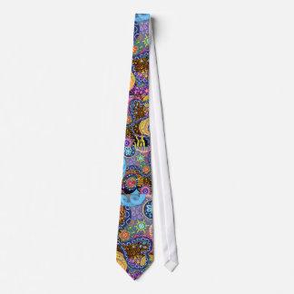 Modelo abstracto psicodélico corbata personalizada