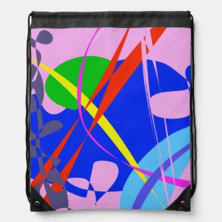 Modelo abstracto psicodélico mochilas
