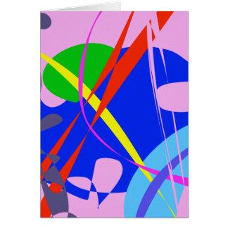Modelo abstracto psicodélico tarjeta de felicitación