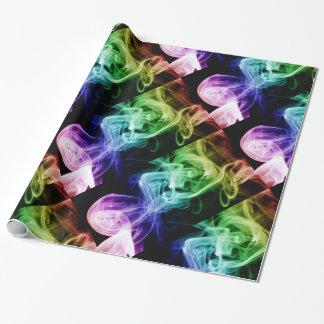 Modelo abstracto púrpura azulverde vibrante del papel de regalo