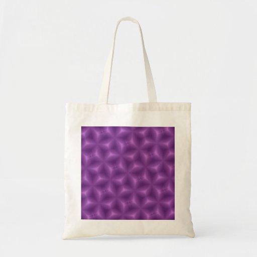 Modelo abstracto púrpura bolsas de mano