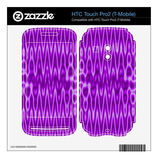 modelo abstracto púrpura brillante HTC touch pro2 skin