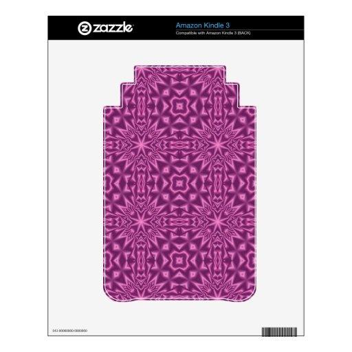 Modelo abstracto púrpura calcomanía para el kindle