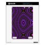 Modelo abstracto púrpura colorido calcomanías para kindle 2