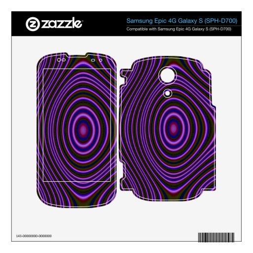 Modelo abstracto púrpura colorido calcomanías para samsung epic