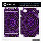 Modelo abstracto púrpura colorido samsung galaxy s 4G skins