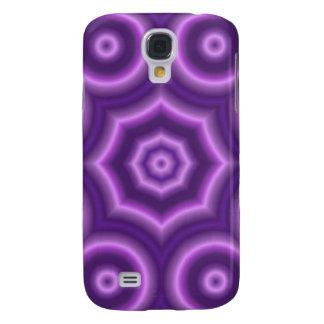 Modelo abstracto púrpura del círculo funda para galaxy s4