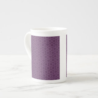 Modelo abstracto púrpura del Doodle del círculo Taza De Porcelana