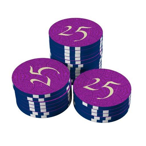 Modelo abstracto púrpura fichas de póquer