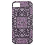 Modelo abstracto púrpura iPhone 5 protectores