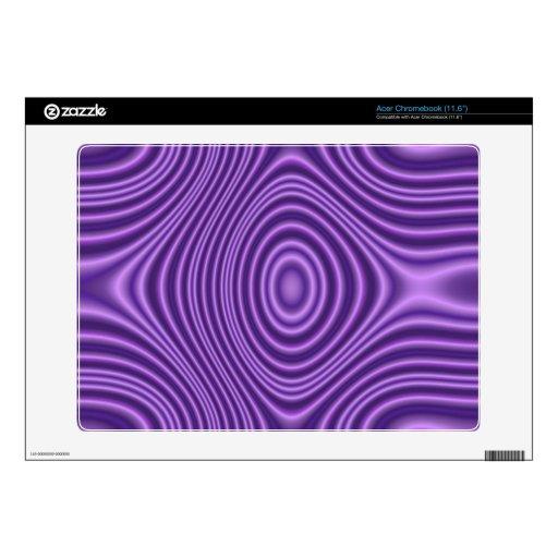 modelo abstracto púrpura calcomanía para acer chromebook