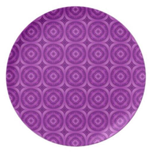 Modelo abstracto púrpura platos para fiestas