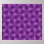 Modelo abstracto púrpura posters