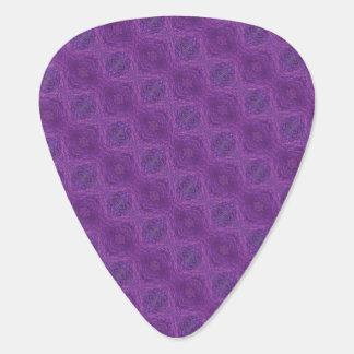 Modelo abstracto púrpura púa de guitarra