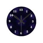Modelo abstracto púrpura relojes de pared