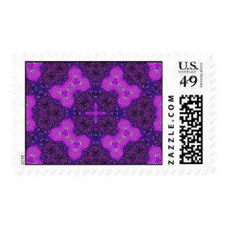 Modelo abstracto púrpura franqueo